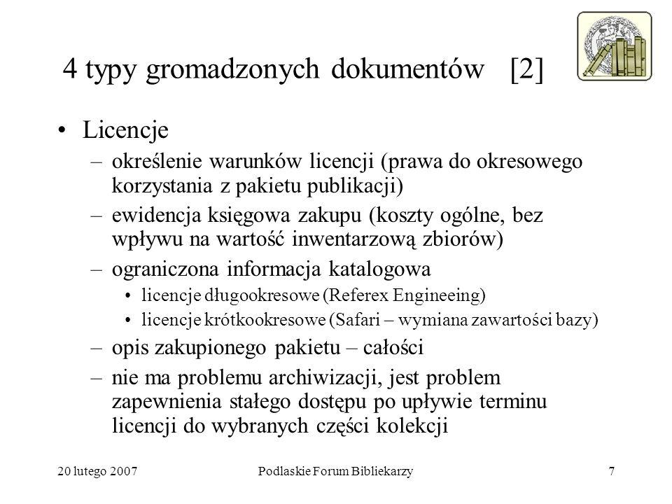 4 typy gromadzonych dokumentów [2]